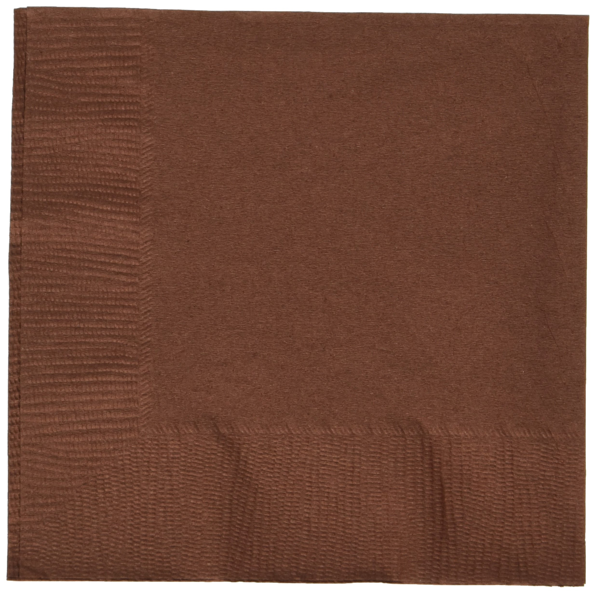 Chocolate Brown 3-Ply Beverage Napkins | Party Supply | 600 ct.