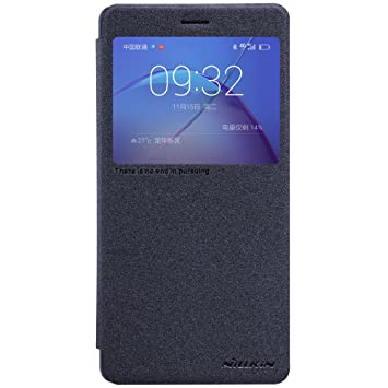 check out 3b75a 616ae Huawei Honor 6X Case, Nillkin Smart Touch View Window PU Leather Flip Cover  with PC Back Shell Slim Fit Folio Case with Auto Sleep/Wake for Huawei ...