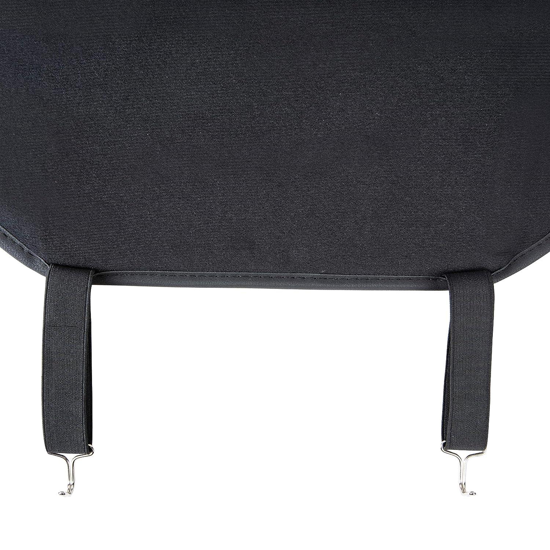 Funda Deluxe de asiento de cuero sint/ético de ajuste universal sin laterales negro con l/íneas rojas Basics