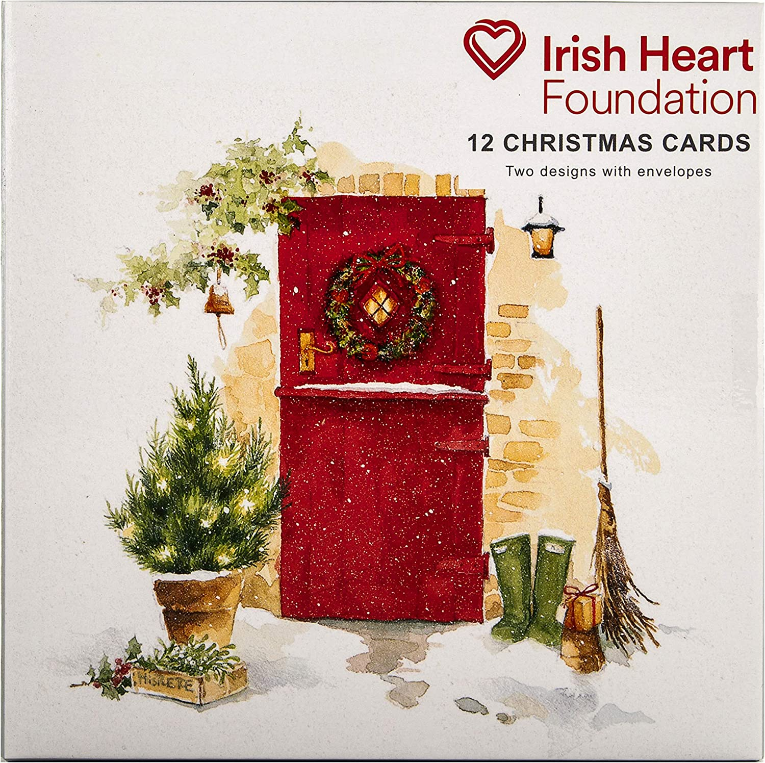 Festive Home Boxed Charity Christmas Cards from Hallmark 12 Cards in 2 Classic Designs