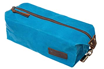 KUBO Waxed Canvas Toiletry Bag or Dopp Kit Bag - Waterproof, Durable, Chic   8dcb4da999