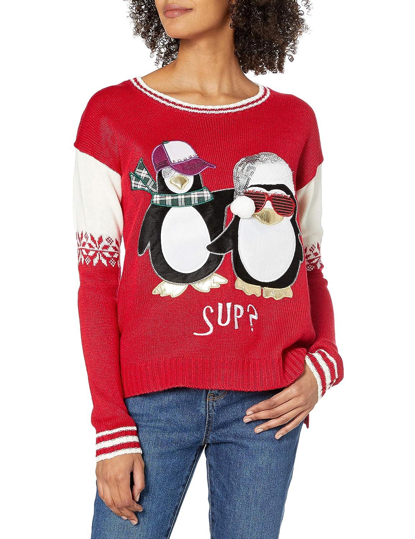 Blizzard Bay Girls L//S Crew Neck Christmas Mermaid Sweater