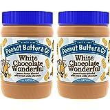 Peanut Butter & Co. Non-GMO, Gluten Free, Vegan White Chocolate Wonderful, 16 Ounce Jars (Pack of 2)