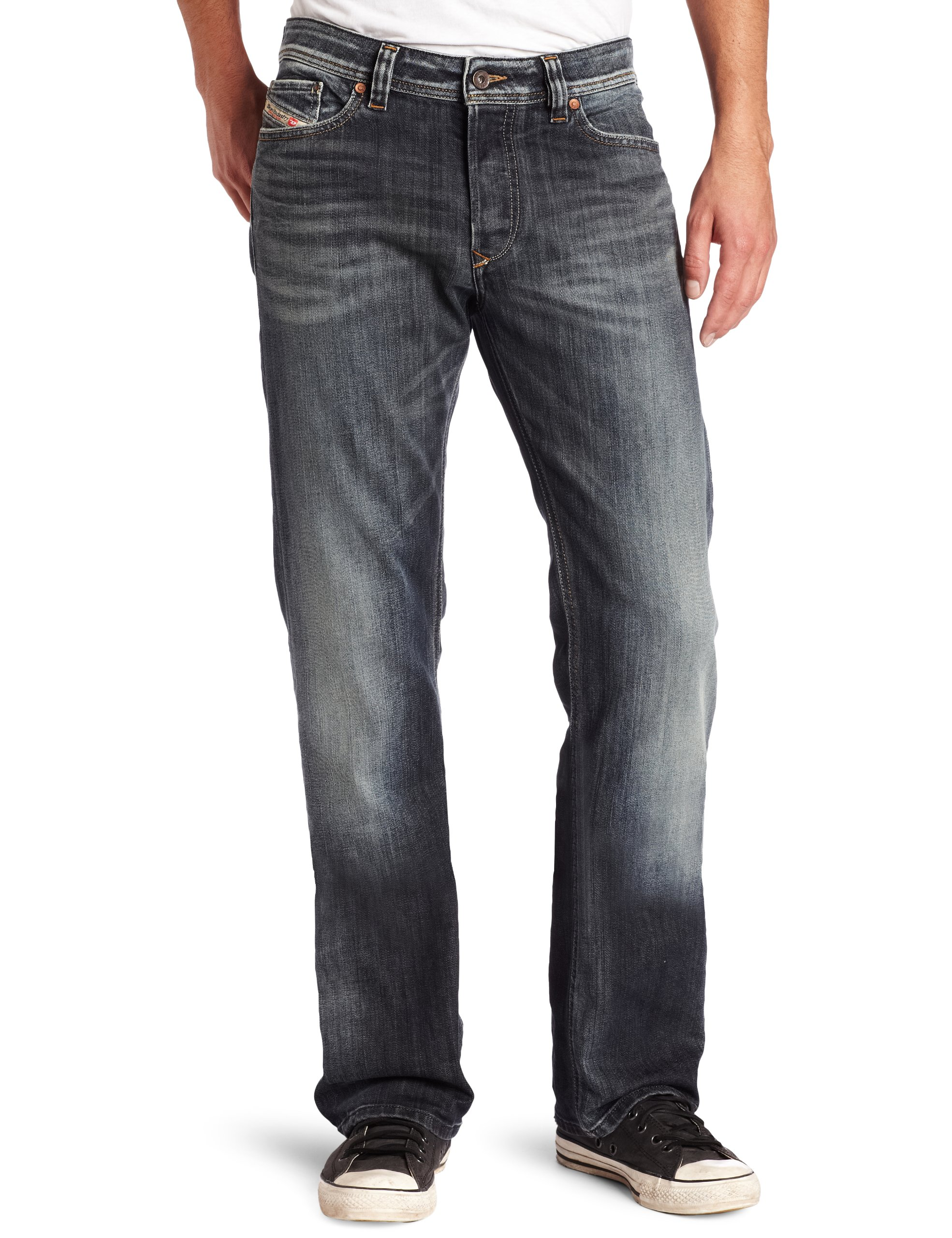 5955317c Diesel Men's Viker Regular 0885K Slim Straight-Leg Jean - Denim Fit