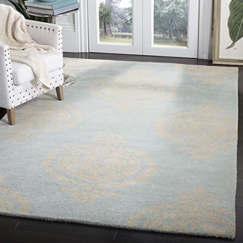 Safavieh Soho Collection SOH703A Handmade Blue and Beige Premium Wool Area Rug 8'3″ x 11'