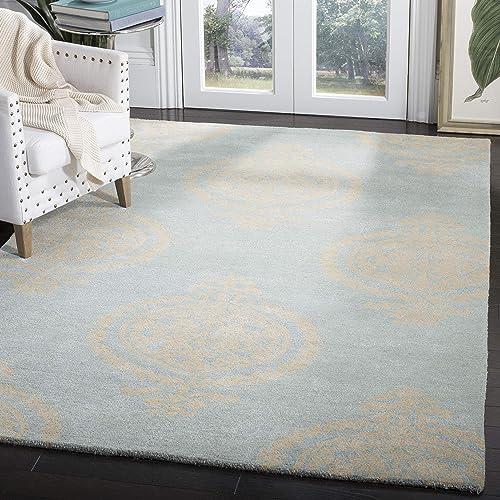 Safavieh Soho Collection SOH703A Handmade Blue and Beige Premium Wool Area Rug 6 x 9