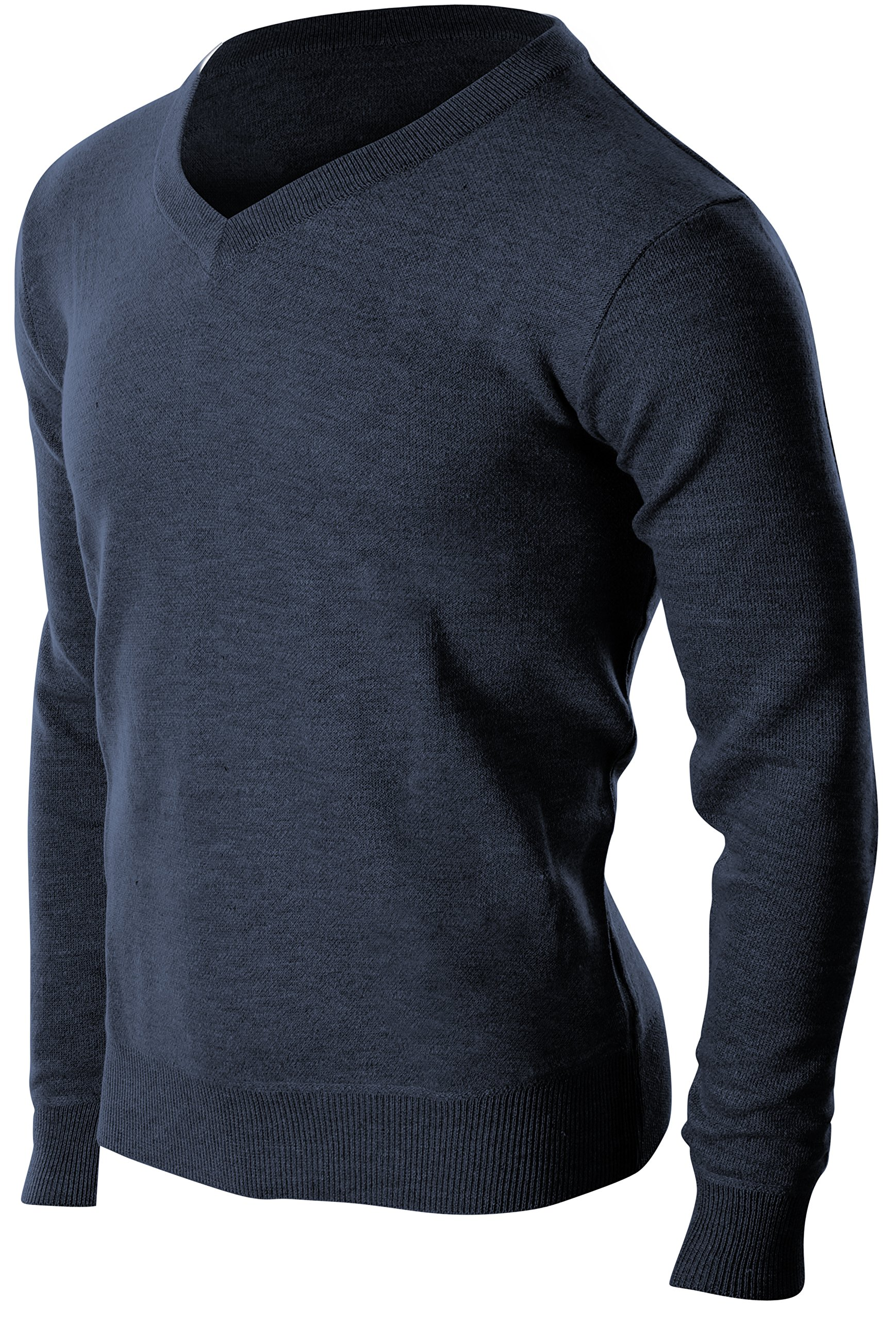 Enimay Men's Business Casual Dress Quality Soft Fall Winter Cozy V-Neck Sweater