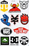 Planche de sticker spécial a4 dC sANTA cRUZ zOO yORK eTNIES aLIEN wORKSHOP skate eLEMENT sticker skateboard autocollant