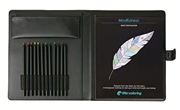 Amazon.com: Mindfulness Coloring Kit - Elegant Portable Carrying ...