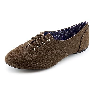 51e80c17657b5 Amazon.com | Kali Womens Lace Up Canvas School Dress Shoes (Adults ...