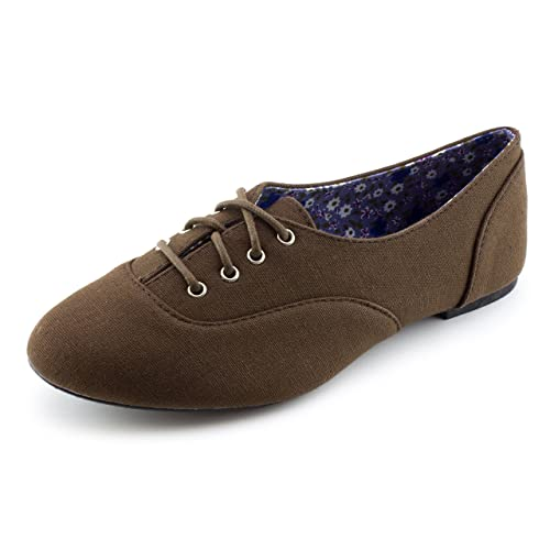 best prices multiple colors check out Kali Womens Lace Up Canvas School Dress Shoes (Adults)