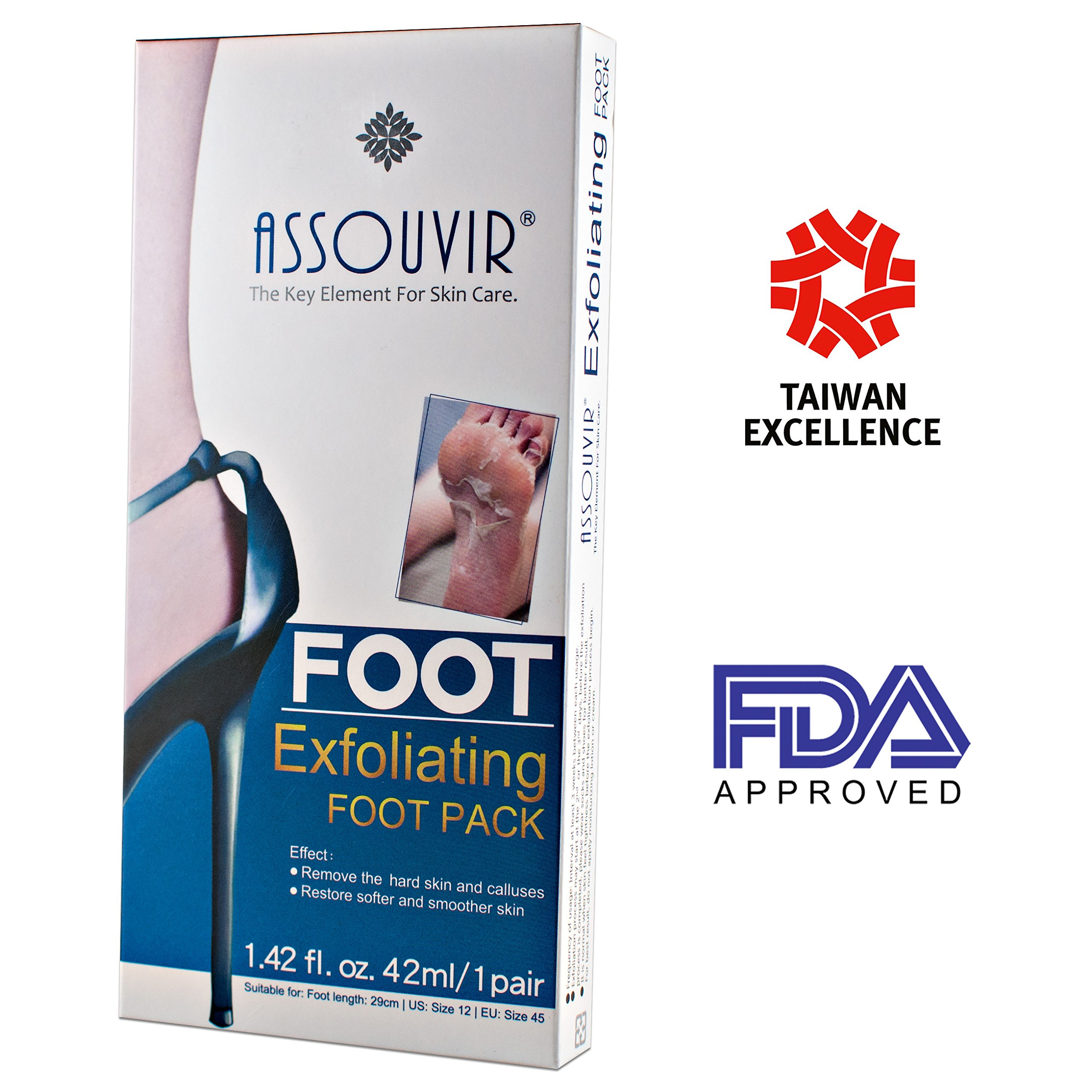 Exfoliating Feet Peel Mask - Baby Foot Peeling Mask for Calluses and Dead Skin Cells Remove - Get Gentle Soft,Silky Heel - Smooth Soft Touch Feet  - Natural Extracts Only
