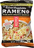 Koyo Reduced Sodium Asian Vegetable Ramen Made with Organic Noodles, 2.1 Ounce (Pack of 12)