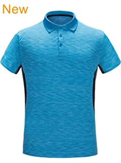 73092f40d ZITY Men's Polo Shirt Cool Quick-Dry Sweat-Wicking Color Block Short Sleeve  Sports