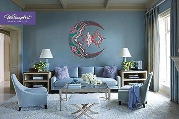 Moon Mandala Wall Decal Self Adhesive Mural Temporary Peel And Stick Art