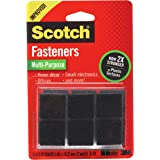 Scotch Multi-Purpose Fasteners, Black, 7/8 x 7/8 Inch, 12 Sets per Pack (RF7021)