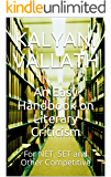 An Easy Handbook on Literary Criticism: For NET, SET and Other Competitive