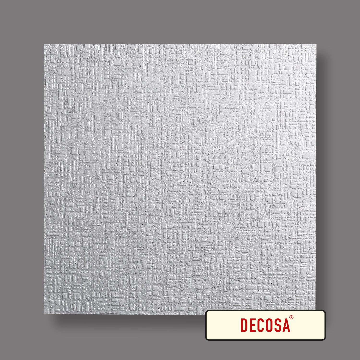 blanc 50 x 50 cm Decosa Dalle de plafond Bukarest PRIX SPECIAL GROS CONDITIONNEMENT = 28m2