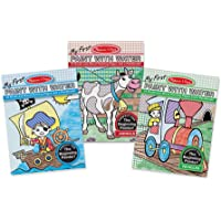 Melissa & Doug My First Paint With Water Activity Books Set - Animals, Vehicles, and Pirates