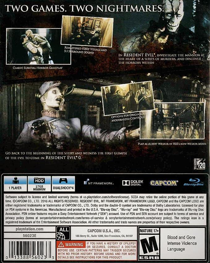 Resident Evil Origins Collection バイオハザード オリジンズコレクション (北米版) - PS4 [並行輸入品]: Amazon.es: Videojuegos