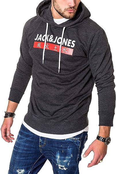 JACK & JONES Sudadera con Capucha Suéter Manga Larga para Hombre Casual Streetwear: Amazon.es: Ropa y accesorios