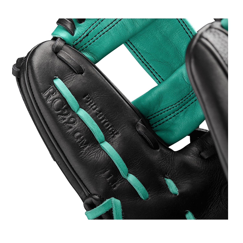 WILSON 2018/A2000/RC22/GM Infield Handschuhe/ /Rechte Hand /Überwurf schwarz//Mariner gr/ün//wei/ß 29,2/cm