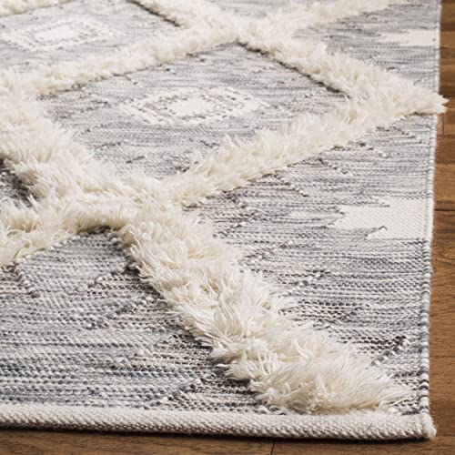 Safavieh Kenya Collection KNY455F Hand-Woven Wool Area Rug, 6 x 9 , Grey Ivory