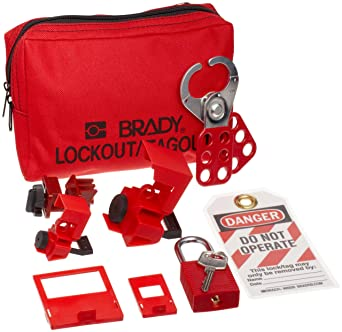 Padlocks and Tags Not Included Brady Breaker Lockout Pouch Kit