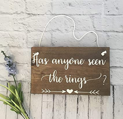 Amazon Has Anyone Seen The Rings Wedding Wooden Ring Bearer
