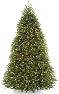 national tree 9 foot dunhill fir tree with 900 dual led lights and 9 function footswitch
