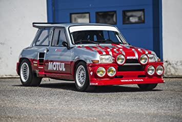 Amazon.com: Renault Maxi 5 Turbo (1985) Car Print on 10 Mil Archival Satin Paper Red/Silver Front Side Static View 16