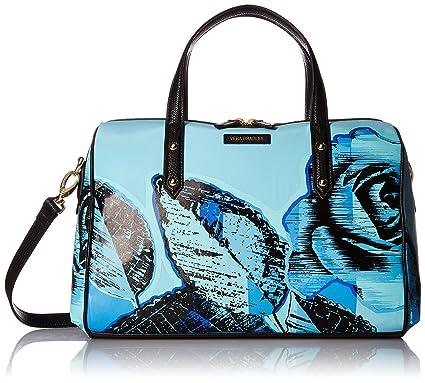 17740d87c Vera Bradley Marlo Satchel, Blue Havana Rose: Handbags: Amazon.com