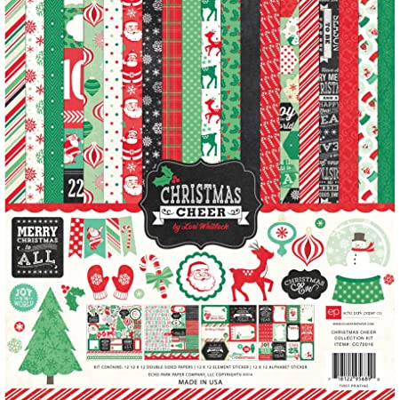 Christmas Imagery.Echo Park Christmas Cheer 12 X12 Collection Kit Cc72016