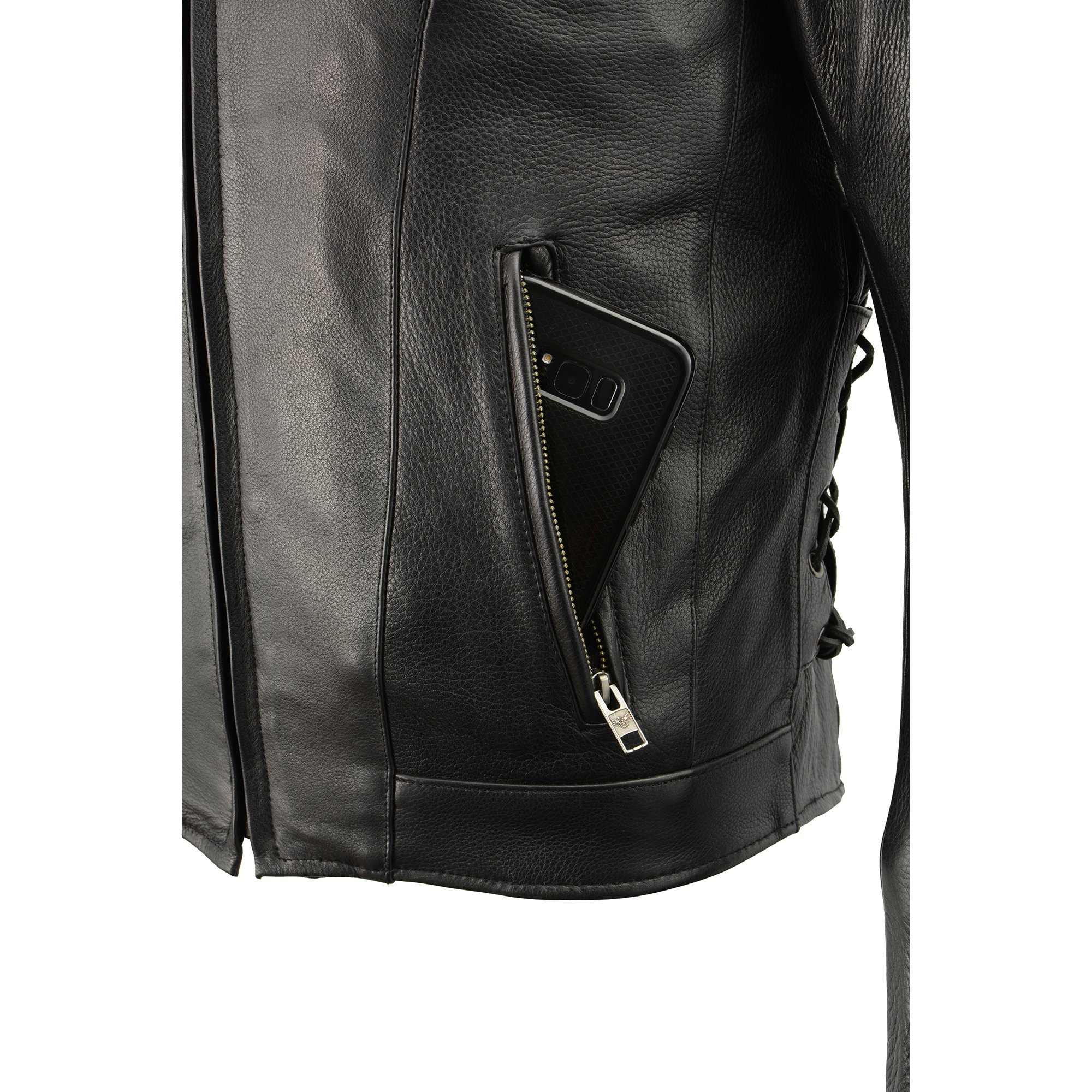 Milwaukee Leather Men's Side Lace Vented Scooter Jacket (Black, 5X-LargeTall) by Milwaukee Leather (Image #9)