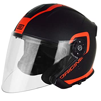 Origine Helmets 201586020100504 Casco Jet Palio Flow 2.0, Negro/Naranja, ...