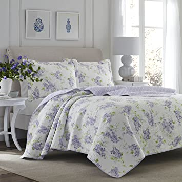 Amazon.com: Laura Ashley 221052 Keighley Lilac Quilt Set,Lilac ... : laura ashley king quilt - Adamdwight.com