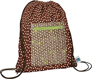 product image for Planet Wise Drawstring Sports Bag, Lime Cocoa Bean, Made in the USA