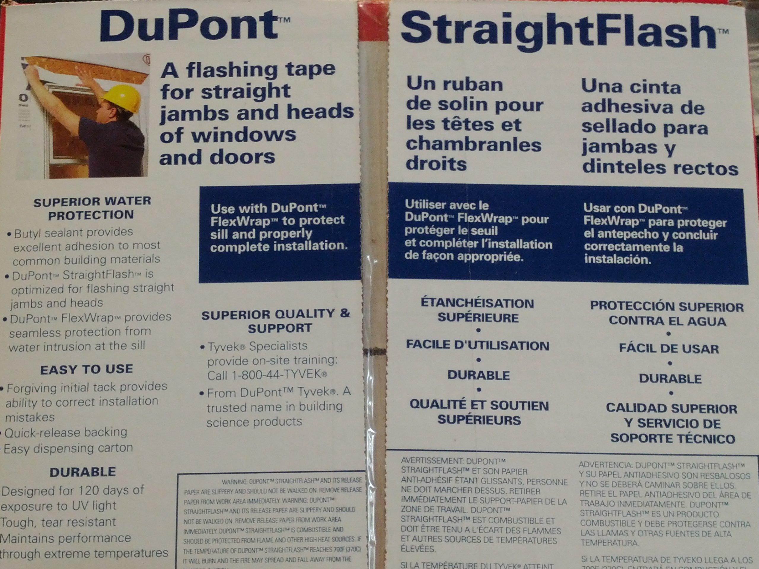 DuPont Tyvek StraightFlash Single-Sided - 4'' x 150' - 1 Roll