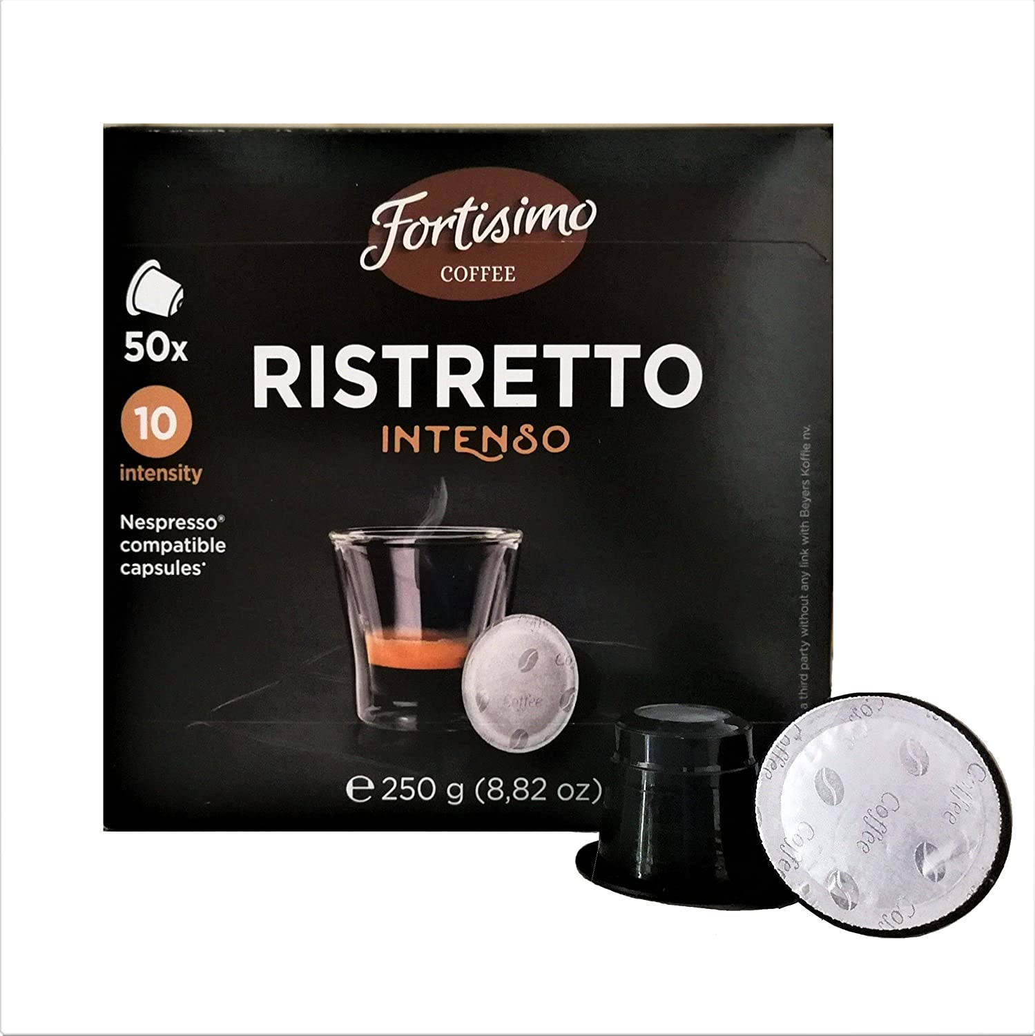 Fortisimo RISTRETTO Intenso Nespresso Compatible Capsule (two pack): Amazon.com: Grocery & Gourmet Food