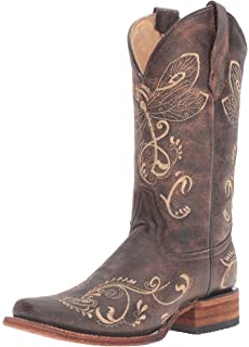 94b440a9357 Amazon.com: Corral Circle G Women's Cognac/Brown Scroll Embroidery ...