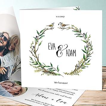 Hochzeitseinladung Gestalten Liebesnest 90 Karten Quadratische