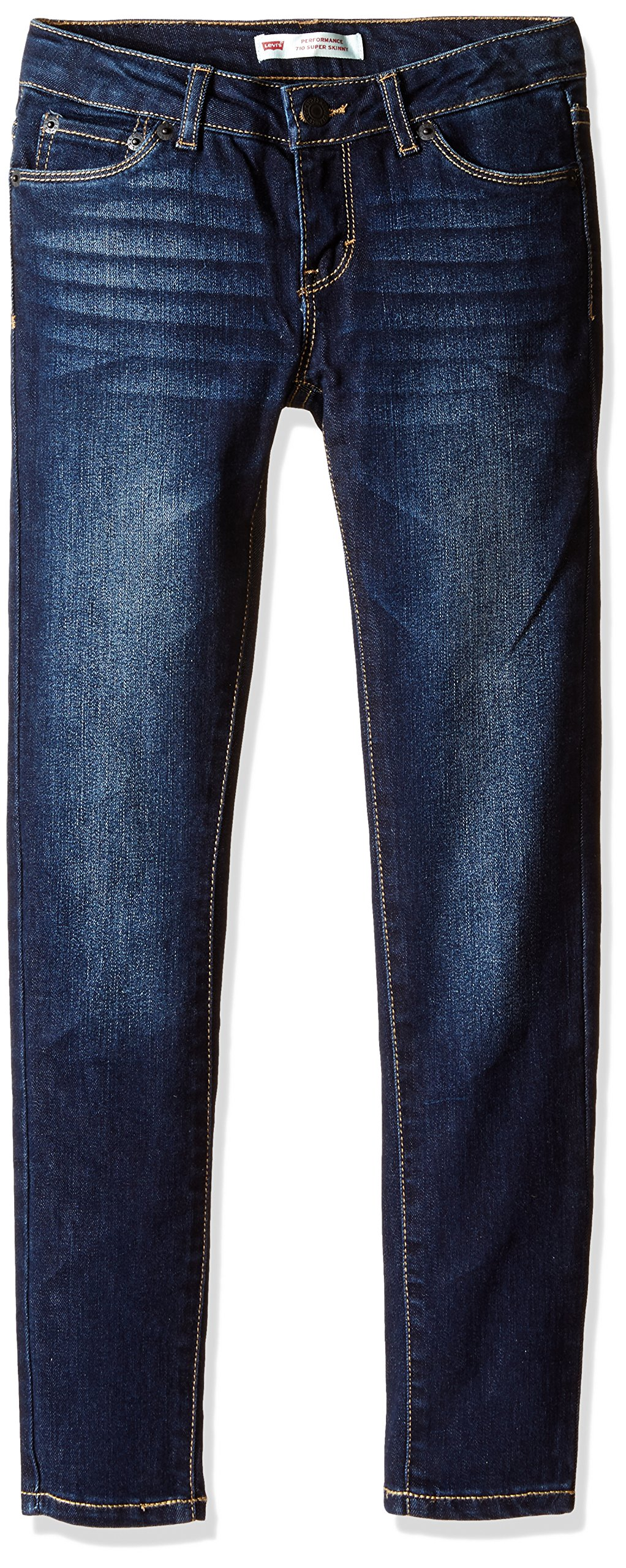Levi's Girls' Big 710 Super Skinny Fit Performance Jeans, Iron Sky, 12 by Levi's