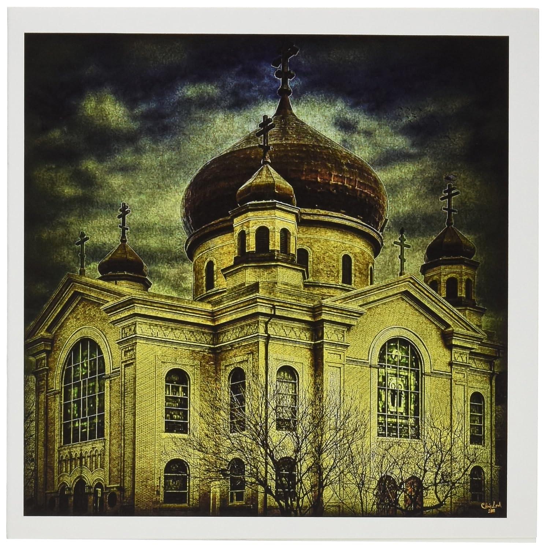 3drose Russian Orthodox Church Brooklyn Greeting Cards 6 X 6