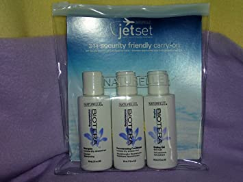 Naturelle Jetset Biotera Travel Size Shampoo Conditioner Gel Set
