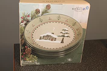 Sonoma Home Goods LODGE Set/4 Dinner Plates 10 1/4u0026quot;~ New & Amazon.com | Sonoma Home Goods LODGE Set/4 Dinner Plates 10 1/4 ...