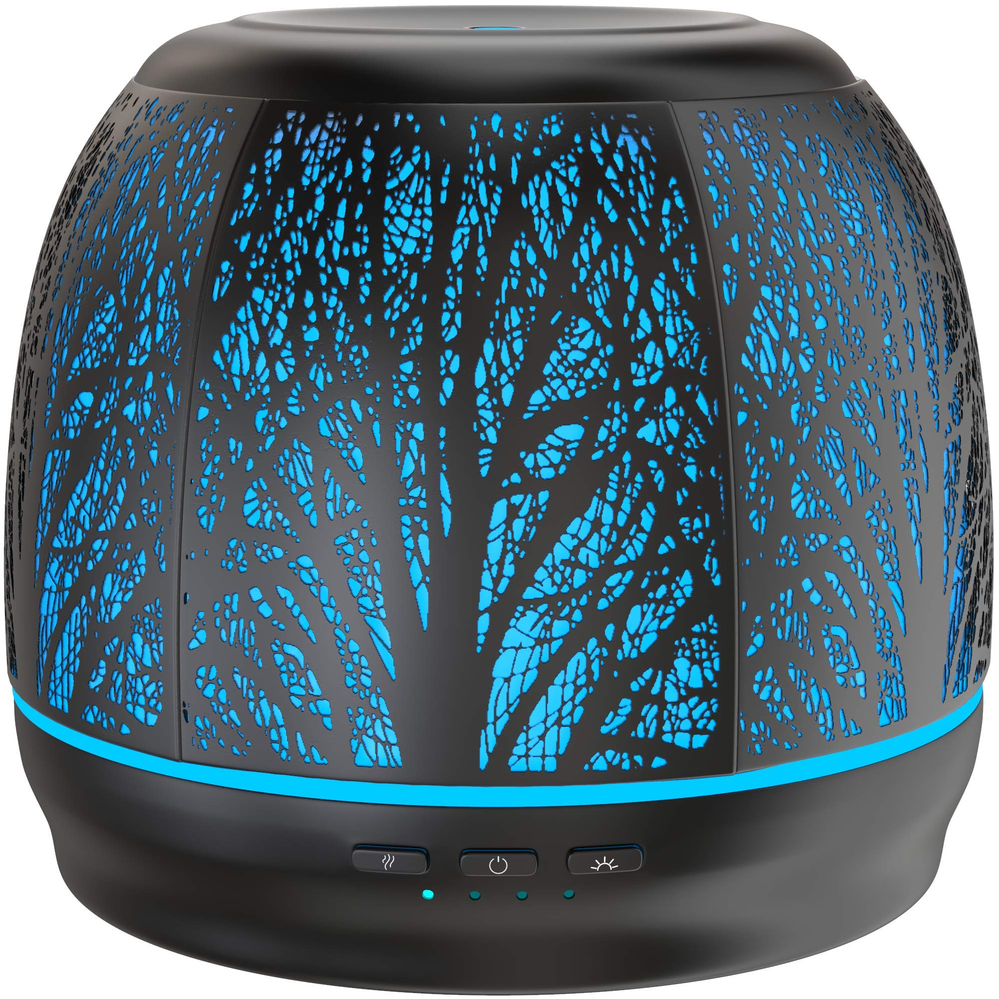 Best Rated Diffusers for Essential Oils, Premium Iron Aromatherapy Diffuser with Large 500mL Water Tank for Home, Office, Kitchen, Baby Room Air Oil Ultrasonic Humidifier with 7 Color LED Lights by Aroma Outfitters