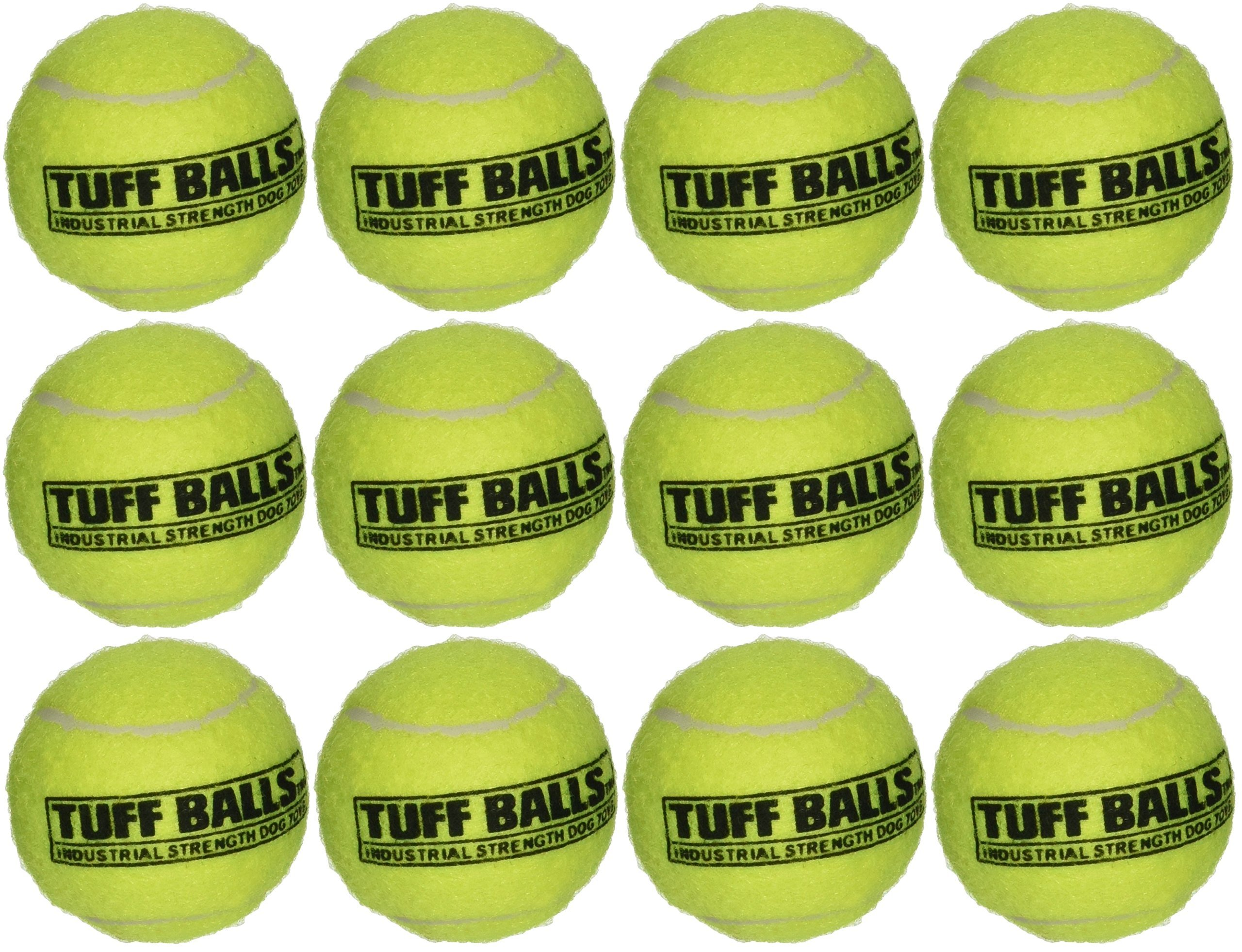 PetSport 12 Tuff Balls - Industrial Strength Dog Toys - Junior/Small Size