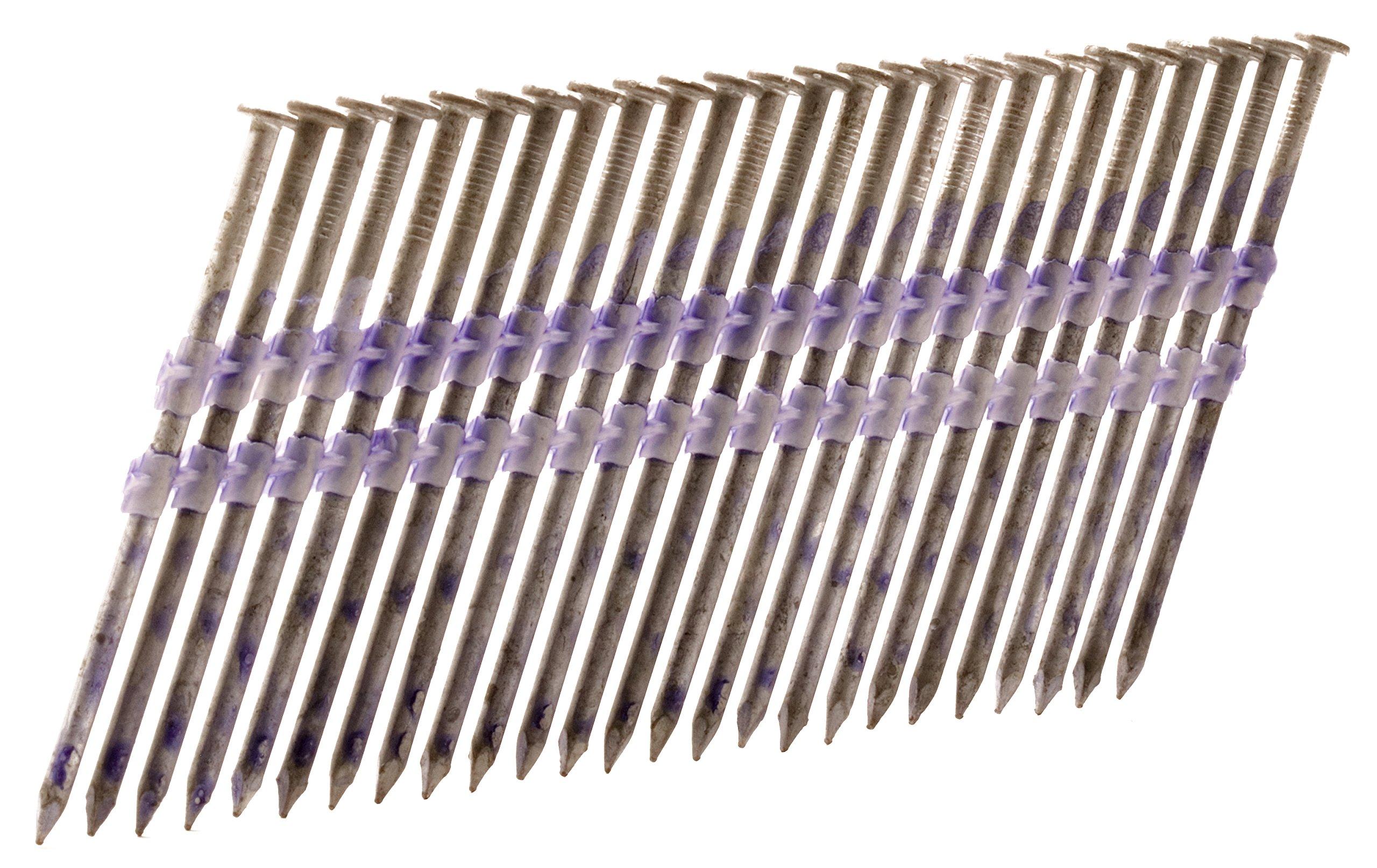 Hitachi 10167 3'' x .148 SM Full Round Head Hot Dipped Galvanized Plastic Strip Framing Nails 4, 000Count