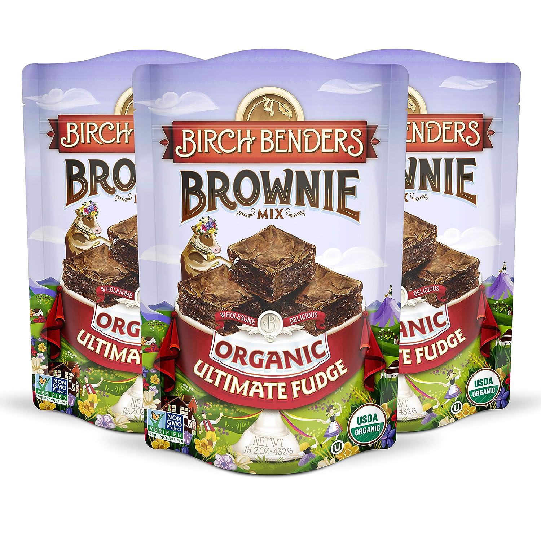 Birch Benders Organic Ultimate Fudge Brownie Mix, 3 Pack (15.2oz each)