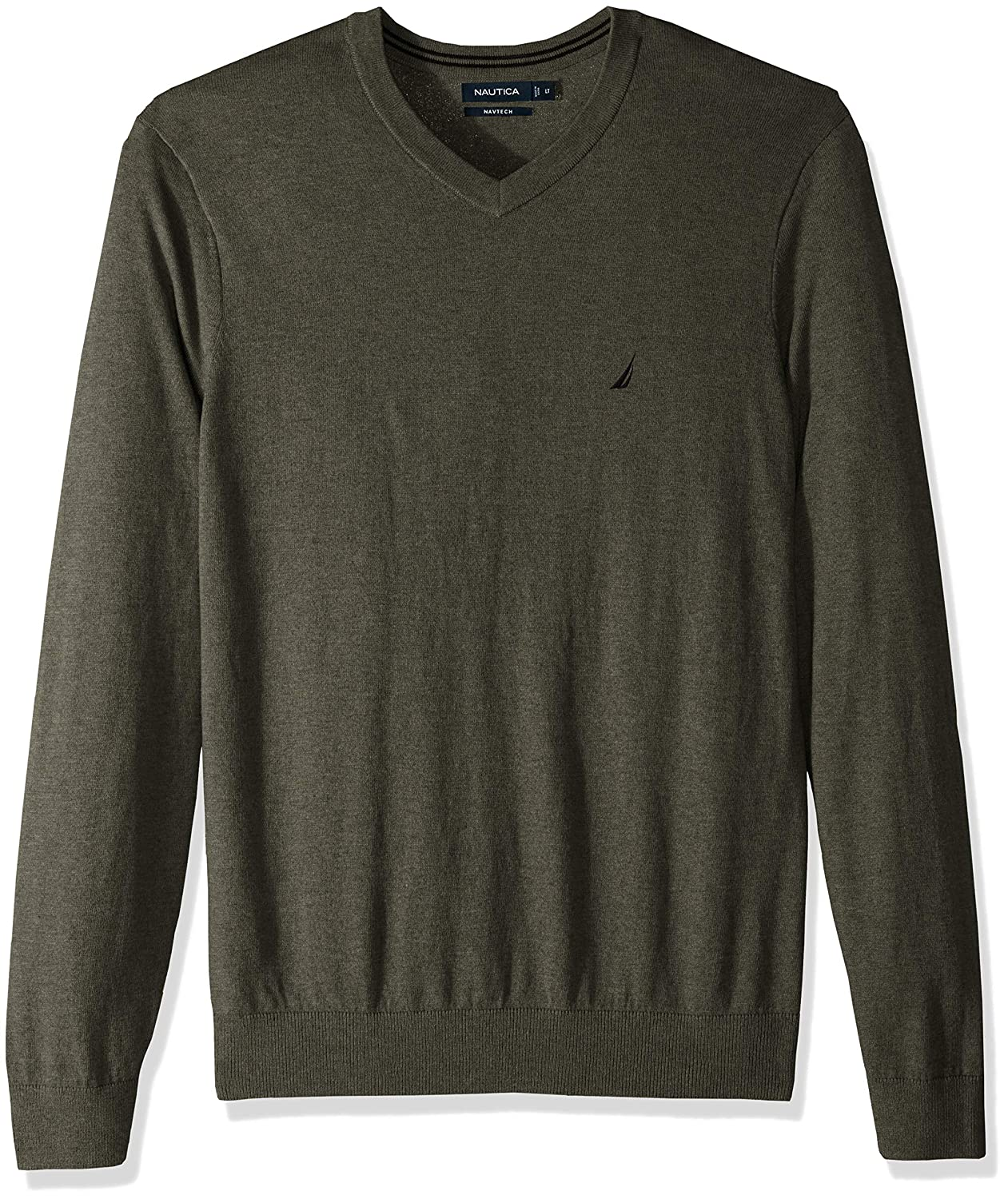 Nautica Men's Big and Tall Long Sleeve V Neck Jersey Sweater N83100
